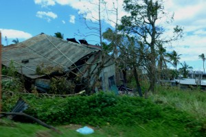 Many houses are flattened or severely damaged on the largest Fijian Island of Viti Levu