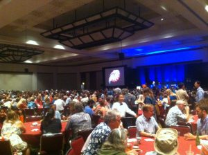 The huge conference dinner at the Hawai'i Convention Center